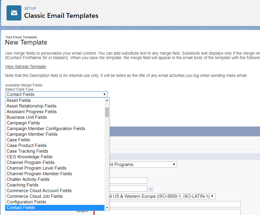 Email Template On Custom Object Salesforce Factory
