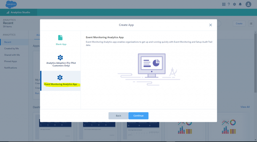 Steps to Enable Event Monitoring dashboards in PROD/Sandbox